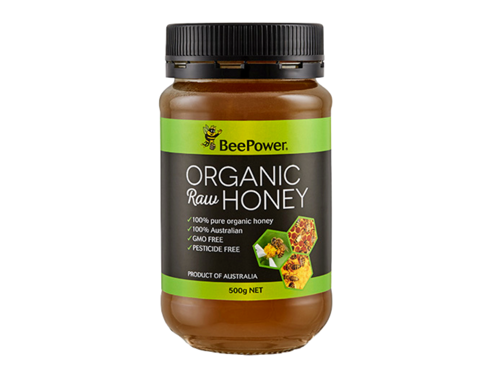 Australian Bee Power Organic Raw Honey (500g)