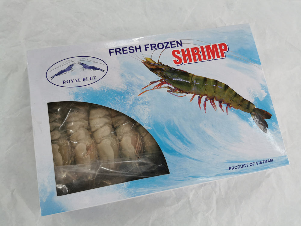 Vietnam Royal Blue Tiger Prawn Shell On (~18pcs)