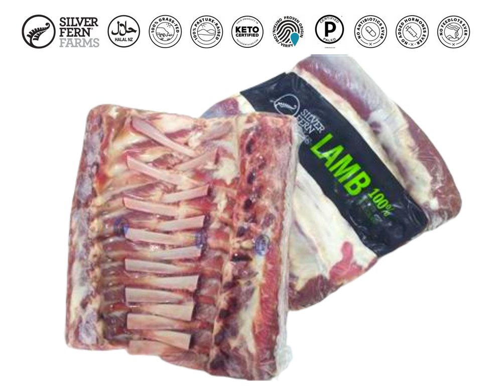 New Zealand Silver Fern Farms French Cut Lamb Rack (16 ribs)
