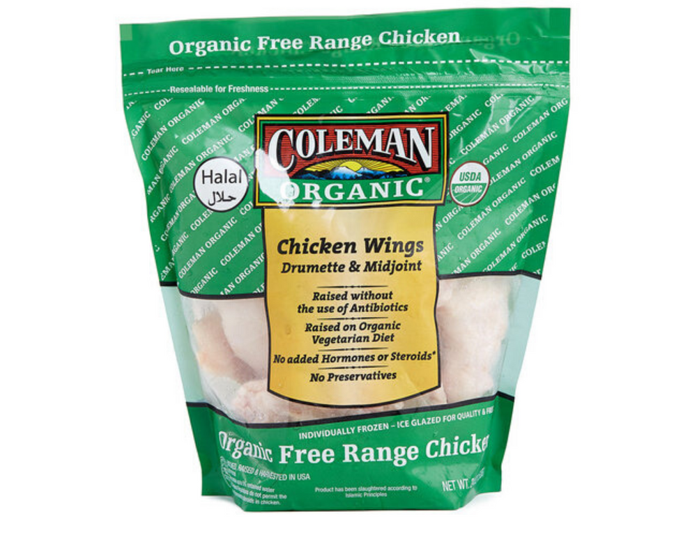 US Coleman Organic Chicken Wing (1.5lbs)