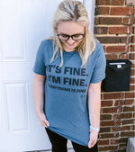 Everything is Fine | Slate Blue