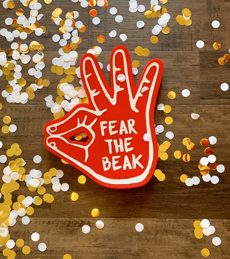 Fear The Beak Foam Hands