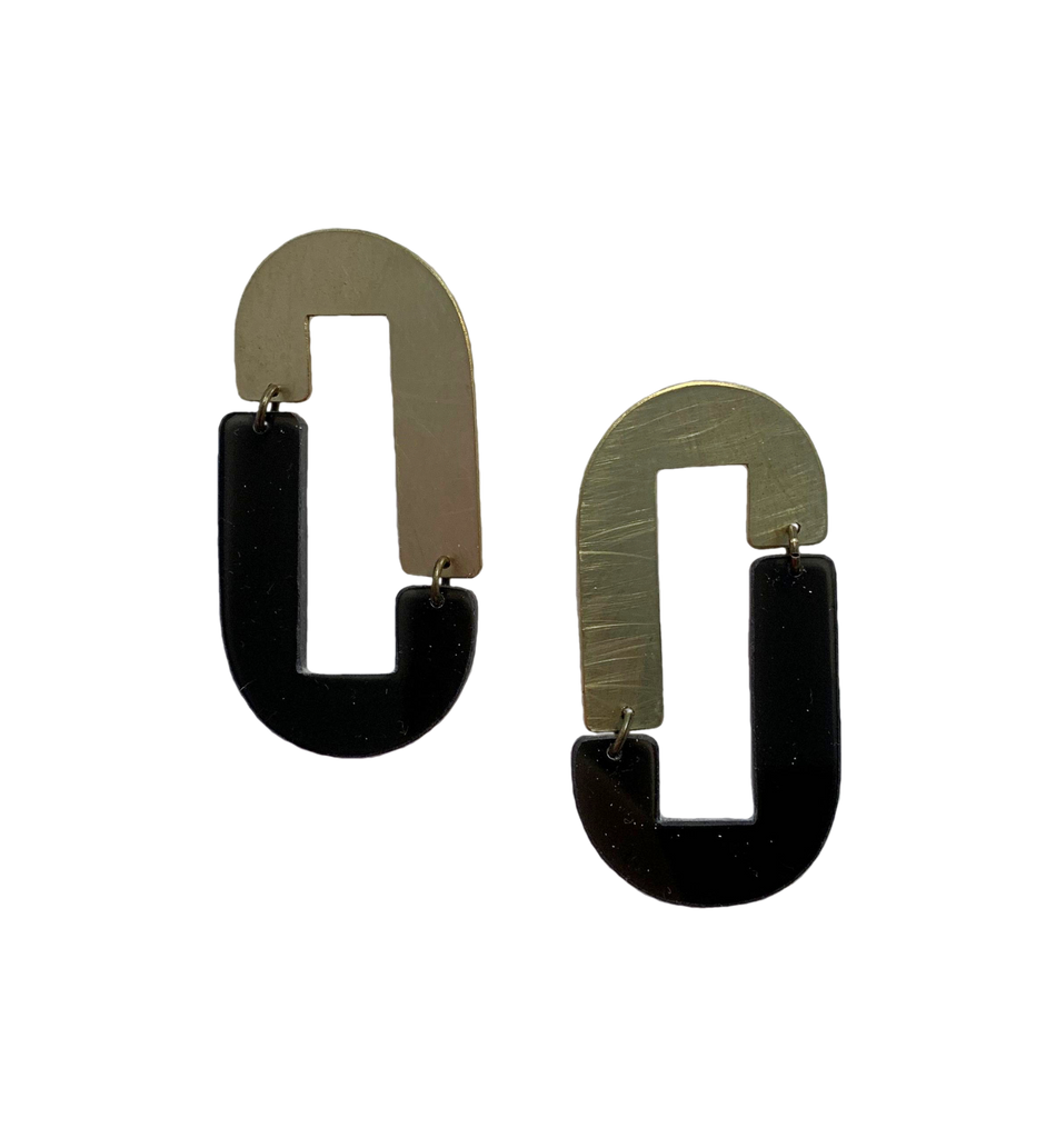 Anza Earrings - Black Transparent