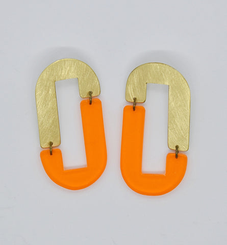 Anza Earrings - Orange Transparent