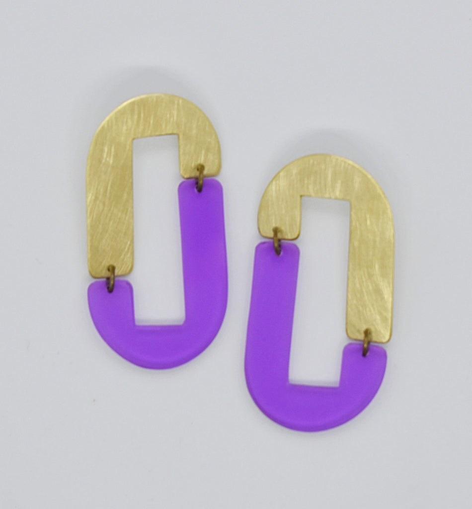 Anza Earrings - Purple Transparent