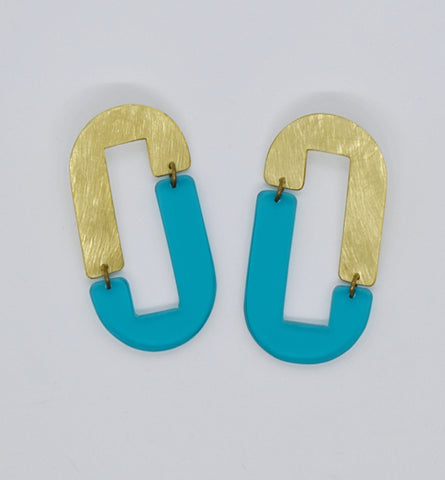 Anza Earrings - Turquoise Transparent