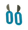 Baker Earrings - Turquoise Transparent