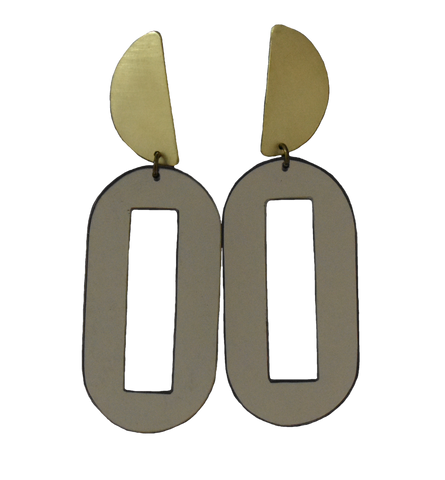 Baker Earrings - Grey Mirror