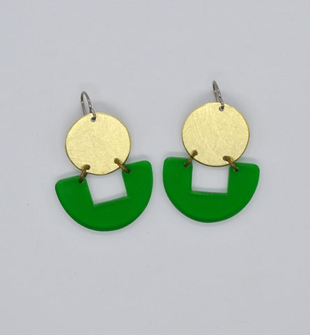 Bolinas Earrings - Green Transparent