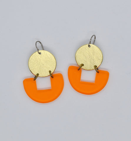 Bolinas Earrings - Orange Transparent