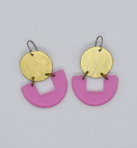 Bolinas Earrings - Pink Transparent
