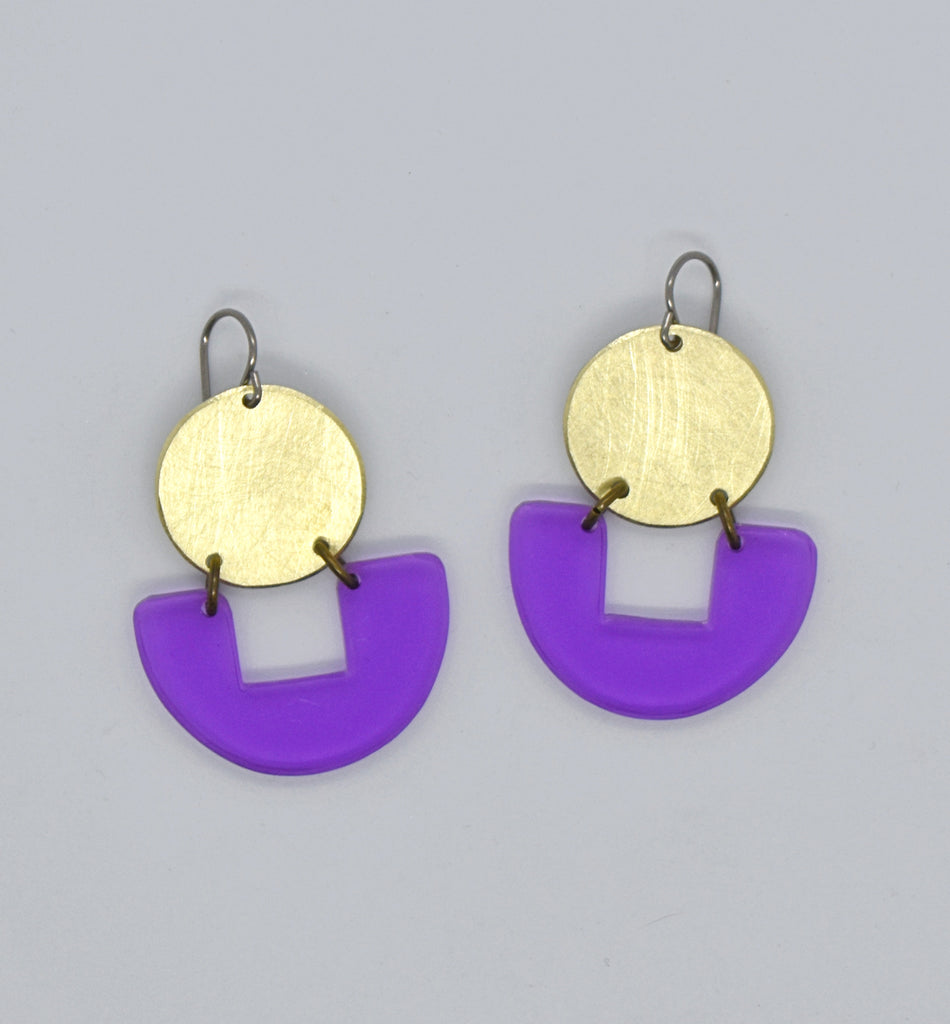 Bolinas Earrings - Purple Transparent
