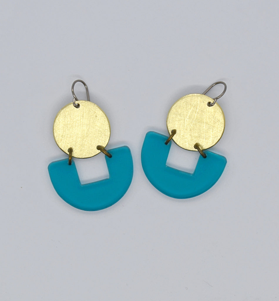 Bolinas Earrings - Turquoise Transparent