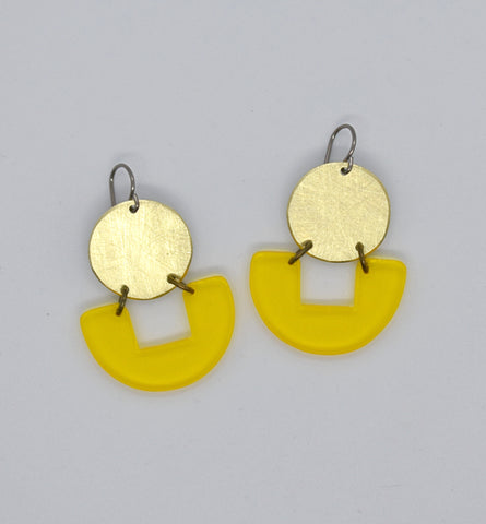 Bolinas Earrings - Yellow Transparent
