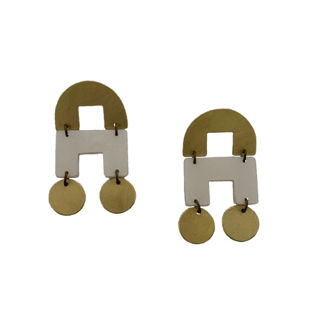 DeYoung Earrings - pearl white