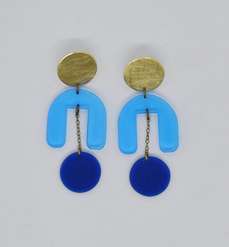 Drake Earrings - Blues