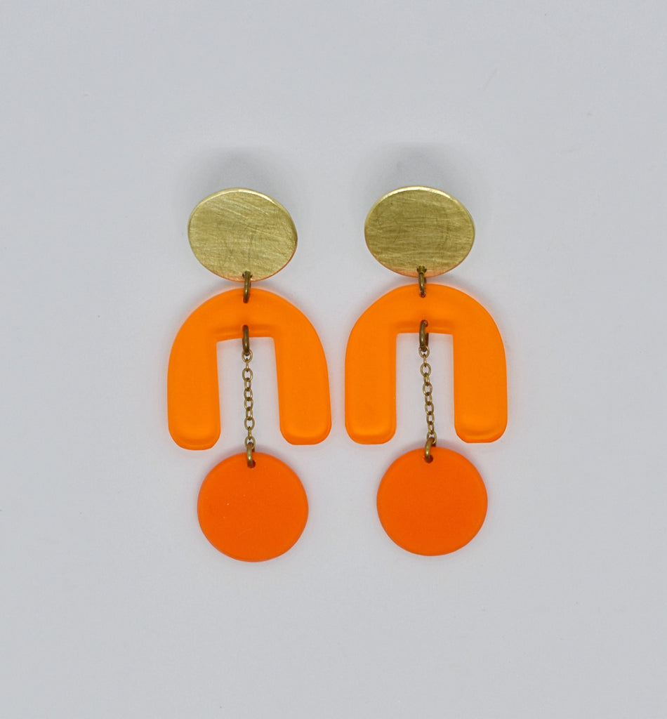 Drake Earrings - Oranges