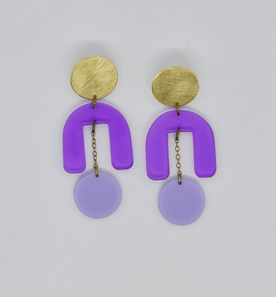 Drake Earrings - Purples
