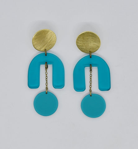 Drake Earrings - Turquoises