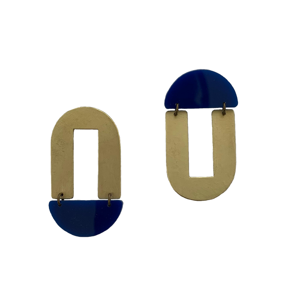 Geary Earrings - navy