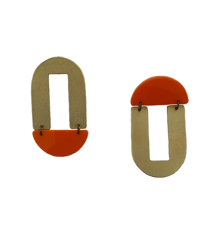 Geary Earrings - orange