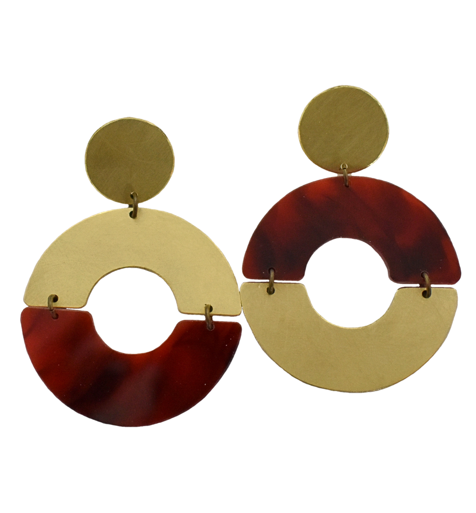 Hayes Earrings - Tortoise Shell