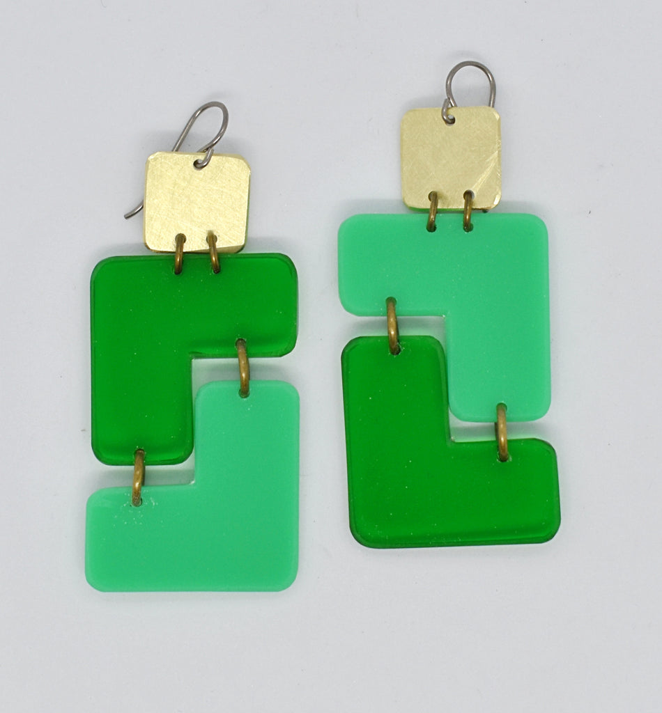 Millerton Earrings - Greens