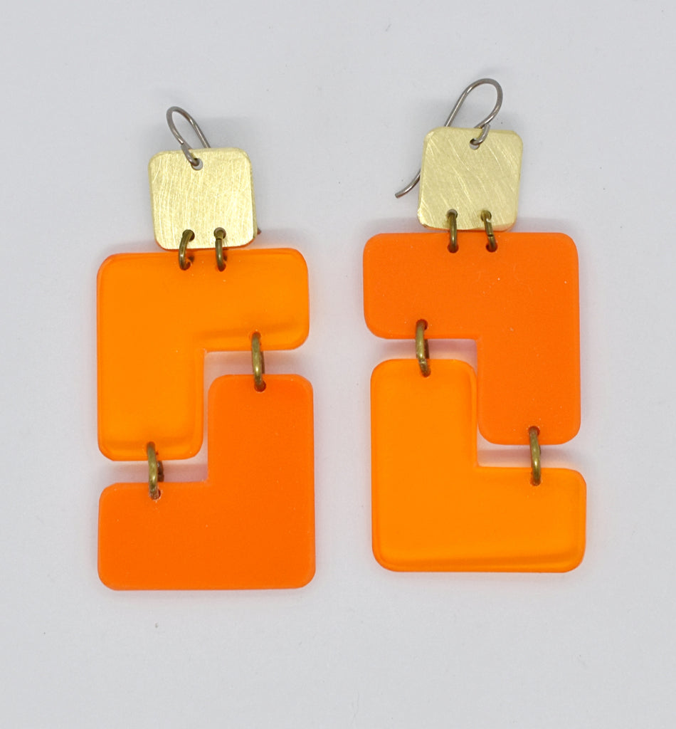 Millerton Earrings - Oranges