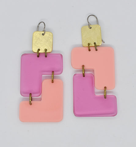 Millerton Earrings - Pinks