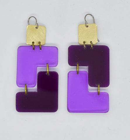Millerton Earrings - Purples