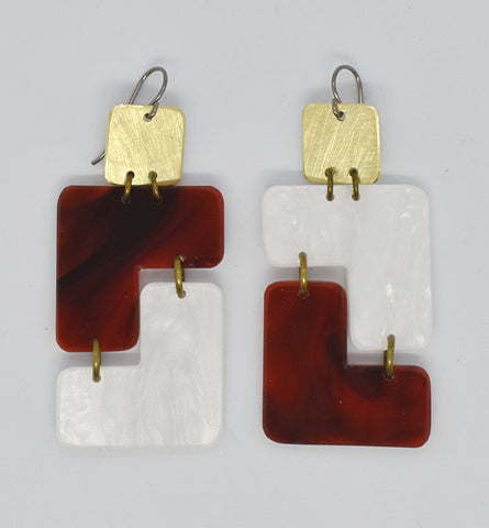 Millerton Earrings - Tortoise Shell Pearl