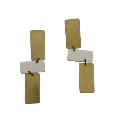 Moraga Earrings - White