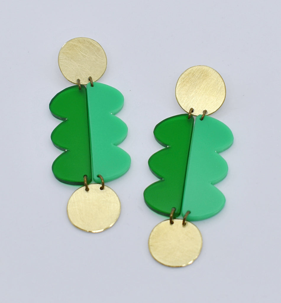 Nopa Earrings - Greens
