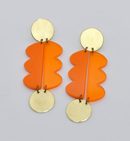 Nopa Earrings - Oranges