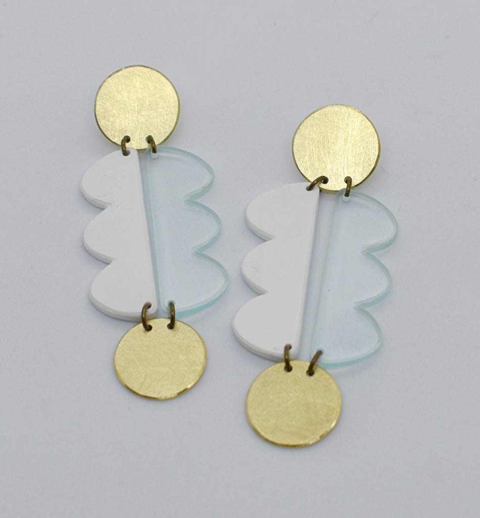 Nopa Earrings - White Transparent