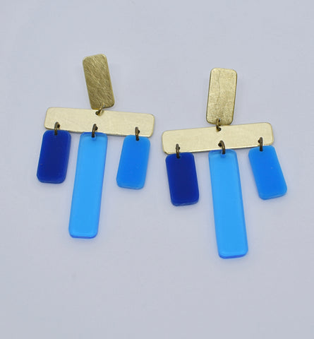 OAK Earrings - Blue Mix