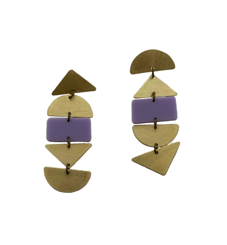 Ortega Earrings - Lilac