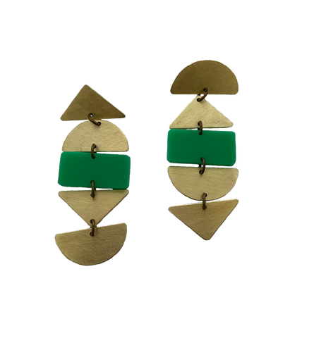 Ortega Earrings - Green