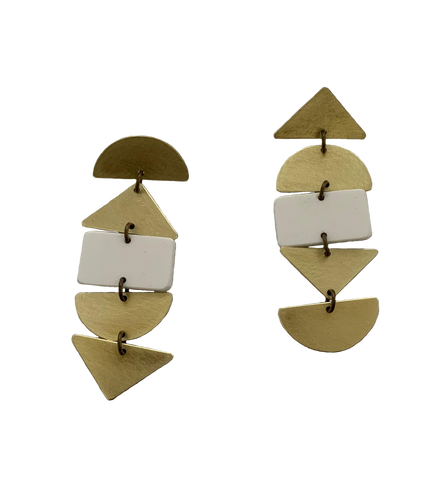 Ortega Earrings - White