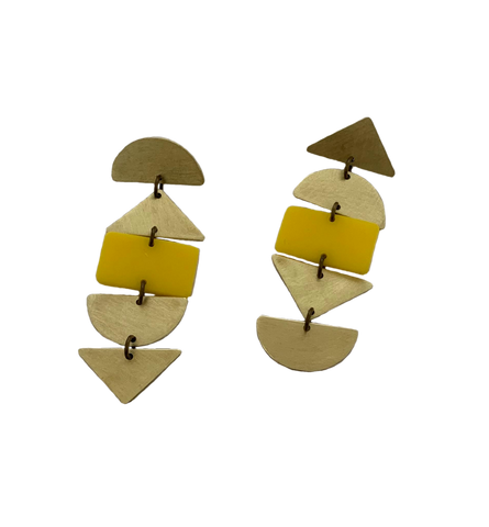 Ortega Earrings - Yellow