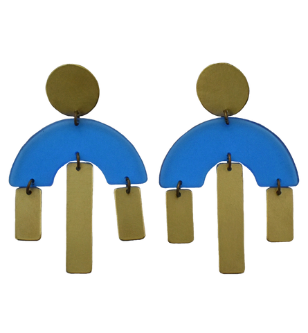 Pacific Earrings - Blue Transparent