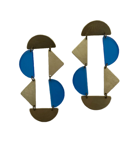 Panhandle Earrings - Blue Transparent