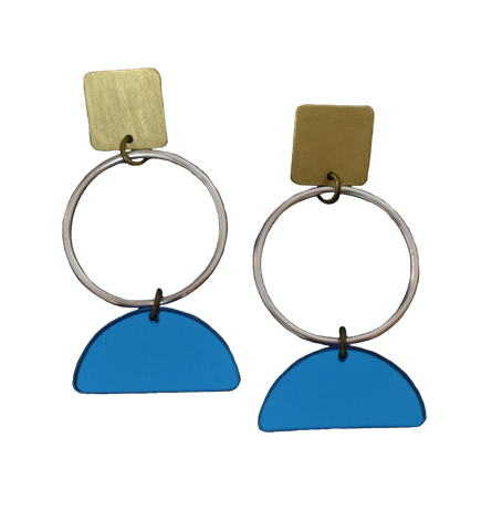 Portola Earrings - Blue Mirror