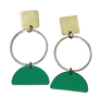 Portola Earrings - Green Mirror
