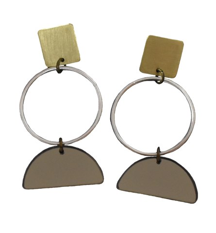 Portola Earrings - Grey Mirror