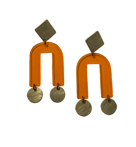 Presidio Earrings - Orange Transparent