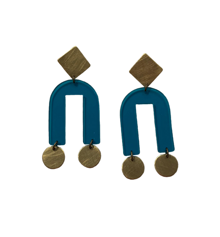 Presidio Earrings - Turquoise Transparent