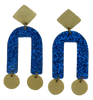 Presidio Earrings - Blue Glitter