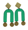 Presidio Earrings - Green Mirror