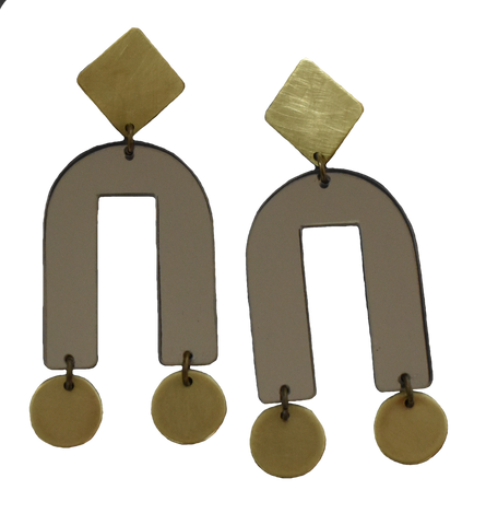 Presidio Earrings - Grey Mirror